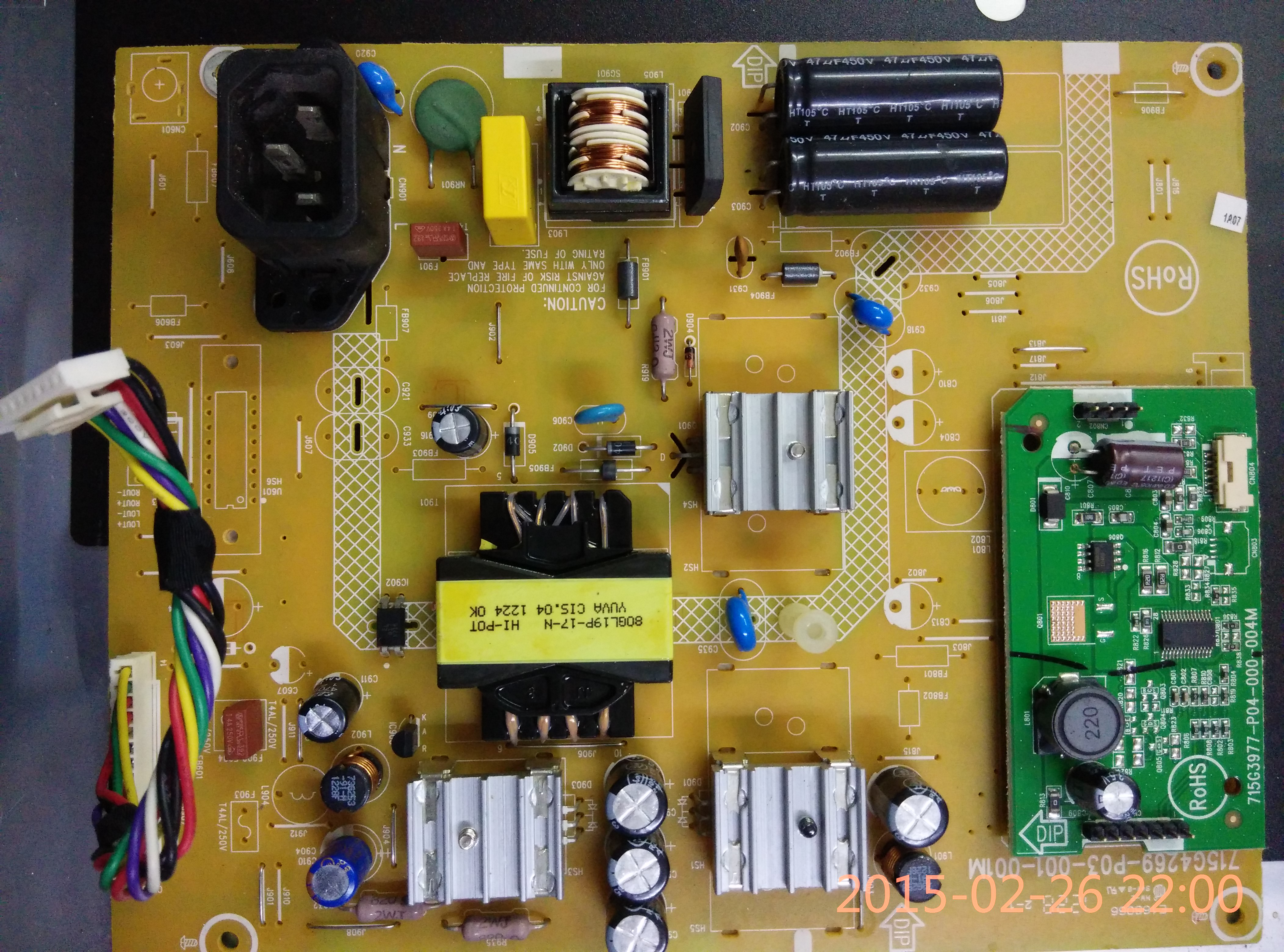 Lenovo L2364WA LCD Power board 715G4269-P03-001-001M