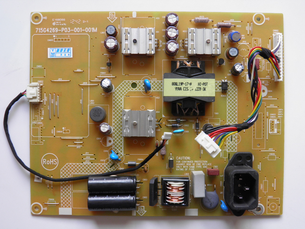 Haier HT-20198B LCD Power board LED 6-pin 715G4269-P01-000-001M