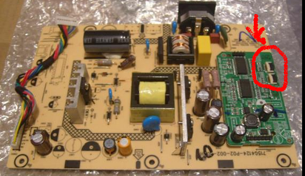 BenQ GL2240 LCD TV Power board 715G4124-P02-002-003H